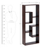 Laminated Display Unit in Brown Colour by Afydecor