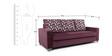 Lexus Three Seater Sofa in Purple by ARRA