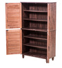 Leo Shoe Rack in Chocolate Brown Colour by Royal Oak