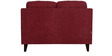Liliana Two Seater Sofa in Burgundy Colour by CasaCraft
