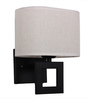 Albany Wall Light in White by CasaCraft