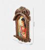 Little India Brown Wooden Jaipuri Lady Bani Thani Jharokha Photo Frame