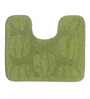 Lushomes Green Cotton Bath and Toilet Mat - Set of 2