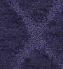 Lushomes Navy Blue Polyester Bath and Contour Mat - Set of 2