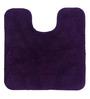 Lushomes Purple Cotton Bath and Toilet Mat - Set of 2