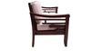 Mariana Teak Wood Sofa Set(1 + 1 + 3) Seater in Fresh Walnut Finish by Finesse