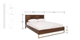 Mathis Queen Size Bed in Walnut Finish by Asian Arts