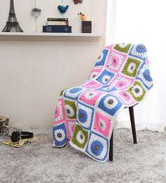 Magic Needles Exclusive Granny Square Blanket In Multicolour