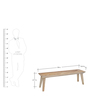 Magix Two Seater Dining Bench in White Natural Finish by @Home
