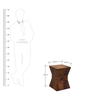 Maharani Stool in Warm Rich Finish by Inliving