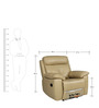 Manhattan Leather One Seater Recliner in Beige Colour by HomeTown