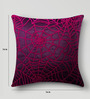 Mapa Home Care Pink Duppioni 16 x 16 Inch Sequined Work Cushion Cover