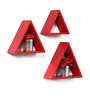 Marita Contemporary Wall Shelves Set of 3 in Red by CasaCraft