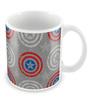 Marvel Civil War-Captain Logo Design Multicolour Ceramic 350 ML Mug
