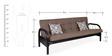 Metallic Three Seater Sofa cum Bed with Grey Mattress by FurnitureKraft