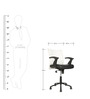 Ergonomic Mid back Chair in Black & White Colour by Star India