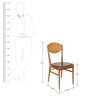 Modern Slant Back Dining Chair with Sleek Tapered Legs in Black Color by Afydecor