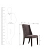 Modern Wingback Chair with Splayed Wooden Legs by Afydecor