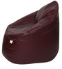 Muddha XXXL Sofa Bean Bag Cover without Beans in Maroon Colour by Sattva