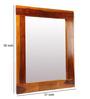 Mudra Brown Sheesham Wood Honey Finish Mirror