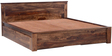 Nashville King bed with storage in Provincial Teak Finish by Woodsworth