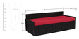 Nelson Sofa cum Bed with Two Pillows & Five Bolsters in Red Color by Auspicious Home