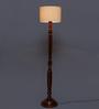 Elvira Floor Lamp in Off White by CasaCraft