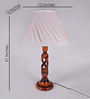 Pavana Table Lamp in Off White by Mudramark