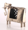 Ni Decor Silver Metal Elephant Tea Light Holder