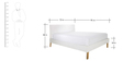 Noah King Size Bed in Brown & White Colour by Asian Arts