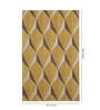 Obeetee Mocha & Yellow Wool 96 x 60 Inch Geo Gemstone Carpet
