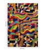 Obeetee Multicolour Wool 84 x 60 Inch Retro Carpet