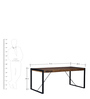Odin Six Seater Dining Table in Light Brown Finish by Bohemiana