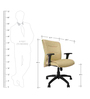 Omega Medium Back Ergonomic Chair in Beige Leatherette by Starshine