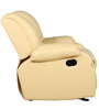 One Seater Recliner cum Rocking Sofa in Ivory Beige Colour by Parin