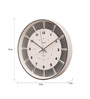 Opal Silver Crome 12 Inch Round Raised Index Designer Dial Wall Clock