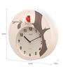 Opal White ABS 12.5 Inch Round Hourly Bird Sound Cuckoo Clocks