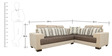 Pacific Corner Sectional Sofa with Lounger with Fabric Upholstery by Star India