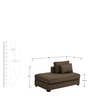 Paldrich Lounger Sofa in Brown Colour by Madesos