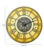 Panash Art Yellow Solid Wood Vintage Rustic Wall Clock