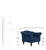 Paulina One Seater Sofa in Navy Blue Colour by CasaCraft