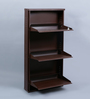 Peng Essentials Brown Steel 3 Shelves Shoe Rack