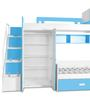 Play Bunk Bed in Blue and White by Alex Daisy