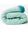 Pluchi Stripes All The Way Baby Blanket in Slate Green & Ivory Colour