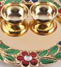Gupta Glass Gallery Multicolour Metal Puja Set