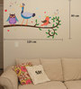 Print Mantras PVC Wall Stickers Cute Singing Peacock Parrot and Owl
