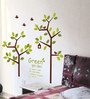 Print Mantras PVC Wall Stickers Wall Decals Beautiful Green Tree and Birds