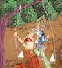 Rajrang Paper 9 x 14 Inch Lord Radha Krishna Wonderful Unframed Painting
