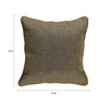Rang Rage Beige Jute 16 x 16 Inch Hand-Painted Cushion Cover
