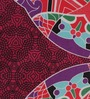 Raymond Home Pinks Abstract Patterns Cotton Queen Size Bed Sheets - Set of 3